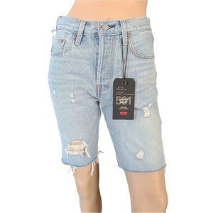 LEVI'S 501 NWT Distressed High Rise Button Fly 27